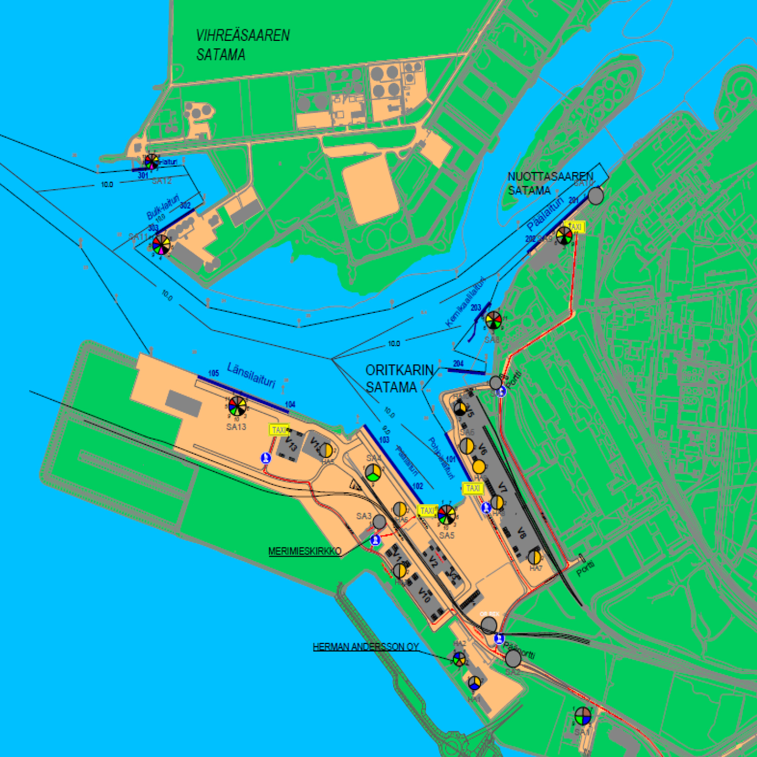 Map Of The Port Area Herman Andersson
